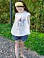 Mädchen Hose-Lässig/Alltäglich einfarbig Baumwolle Sommer Blau / Weiß
