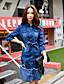 dabuwawa kvinner går ut / ferie vintage / street chic / sofistikert en linje / skjede kjolen, solid / patchwork shirt