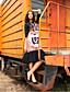 liangsanshi kvinners går ut enkelt skifte kjole, dyr print rund hals midi ½ lengde ermet svart polyester våren