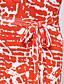 Женский Секси / Для вечеринки А-силуэт С принтом Платье,Макси Глубокий V-образный вырез Хлопок / Полиэстер / Спандекс