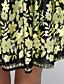 Dámské Sofistikované Běžné/Denní / Velké velikosti A Line Šaty Květinový,Krátký rukáv Do U Nad kolena Žlutá Polyester Léto High Rise