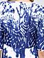 Szexi / Vintage Egyenes Női Ruha,Virágos Maxi V-alakú Poliészter / Spandex