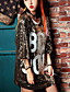 Nais- ½ hiha Keskipaksu Pyöreä kaula-aukko Puuvilla Kesä Yksinkertainen Bile / Rento/arki T-paita,Patchwork / Kirjain Valkoinen