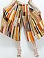 Kvinner Enkel Bred Bukseben Bukser Polyester / Nylon Mikroelastisk
