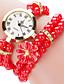 Dame Modeur Armbåndsur Quartz / Plastik Bånd Sej Afslappet Sort Hvid Blåt Rød Grøn Pink Brand