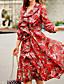 Mulheres Vestido Acima do Joelho Manga ¾ Decote Princesa Frufru Mulheres