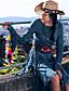 Dame Vintage I-byen-tøj / Ferie A-linje Kjole Ensfarvet,Rund hals Knælang Langærmet Blå Polyester Efterår Højtaljede Mikroelastisk Medium