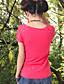 Kortærmet Rund hals Medium Damer Farveblok Broderi Sommer Vintage I-byen-tøj T-shirt,Bomuld