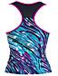 Kvinders Polyester / Spandex Halterneck Farveblok En del