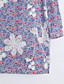 Langærmet Krave Medium Kvinders Blå Broderi Efterår Street Casual/hverdag Skjorte,Bomuld / Polyester
