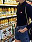 Naisten Ohut Potkupuku,Seksikäs Rento/arki Painettu Poolokaulus Pitkä hiha Keski vyötärö Polyester Mikrojoustava