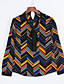 Majica Ženski,Jednostavno Rad Geometrijski oblici-Dugih rukava Mašna-Sva godišnja doba Više boja Srednje Poliester