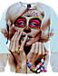 男性 ボヘミアン / ストリートファッション / 活発的 カジュアル/普段着 / スポーツ / ホリデー レギュラー パーカー,プリント ブルー / ホワイト ラウンドネック 長袖 ポリエステル 秋 / 冬 ミディアム マイクロエラスティック