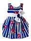 Mädchen Kleid Ausgehen Lässig/Alltäglich Gestreift Blumen Einfarbig Baumwolle Polyester Ganzjährig Ärmellos