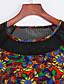 Vrouwen Casual/Dagelijks Eenvoudig T Shirt Jurk Letter-Ronde hals Boven de knie Driekwart mouw Zwart Polyester Zomer