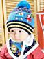 Mädchen Jungen Schal, Hut & Handschuhset Winter Strickware Blau Rosa