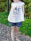 Mädchen T-Shirt Lässig/Alltäglich Druck Baumwolle Sommer