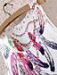 piórko damski bez rękawów, mini sukienka graficzny druku