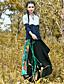 Damen Röcke,Schaukel Muster Patchwork,Lässig/Alltäglich Einfach Mittlere Hüfthöhe Midi Elastizität Baumwolle Leinen UnelastischHerbst