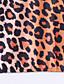 Uden ærmer Med stropper Tynd Kvinders Brun Leopard Sommer Sexet / Aktiv Sport / Ferie Tank Tops,Polyester / Spandex