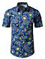 Pánské Geometrický Běžné/Denní Práce Jednoduché Košile Směs polyesteru a bavlny Košilový límec Krátký rukáv