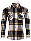 Bomull Medium Langermet,Peter Pan-krage Skjorte Stripet Ruter Sommer Vintage Gatemote Fritid/hverdag Plusstørrelser Herre