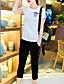 Mikroelastisk Kortermet,Rund hals T-skjorte Bukse Drakter Ensfarget Sommer Enkel Fritid/hverdag Dame