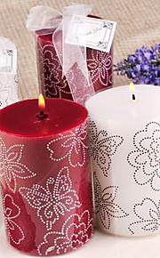 Thème de papillon Favors Candle Piece / Set Bougies Non personnalisé Blanc