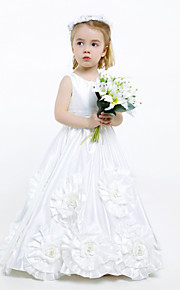 A-linja Tafti Flower Girl Dress - Hihaton - Täysipitkä