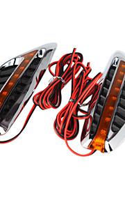 2 PCS Car Steering LED Light With Streamlined OX Horn Design