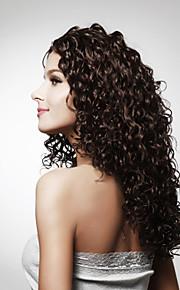 Capless lange hoogwaardige kwaliteit synthetisch krullend haar pruik meerdere kleuren verkrijgbaar