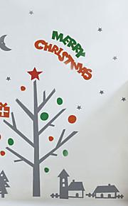 Décoration de Noël stickers muraux cadeau de vacances d'ornements sur les arbres