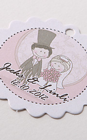 Personalized Scalloped Favor Tag – Wedding Day (Set of 60)
