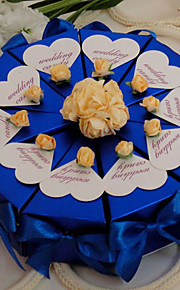 Royal Blue With Roses Cake Favor Box (Set of 10)