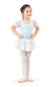 Dansetøj til børn Kjoler Børne Træning Bomuld Blonde Sort / Blå / Lyserød / Lilla Ballet Forår / Sommer / Efterår Kort Ærme Høj