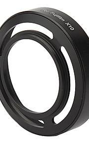 Metal Vented Lens Hood for FUJI X10 - Black