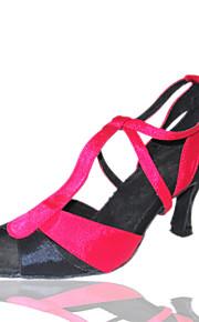 Customized Women's Silk Latin / Ballroom Dance Performance Shoes (More Colors)