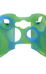 beschermende dual-color siliconen case voor de Xbox 360 controller (groen en blauw)