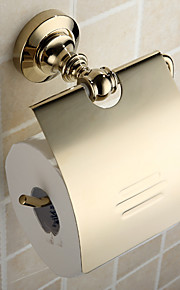 "Toilet Paper Holder Ti-PVD Wall Mounted 58 x 80 x 150mm (2.3 x 3.2 x 6"") Brass Antique"