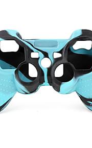 beskyttende dual-color stil silikon sak for PS3-kontrolleren (blå og sort)