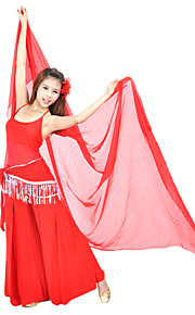 Belly Dance Outfits Women's Training Crystal Cotton Beading / Tassel(s) 3 Pieces Sleeveless Natural Top / Pants / Hip Scarf