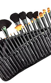 Professionele make-up borstelset met gratis houder, 32-delig