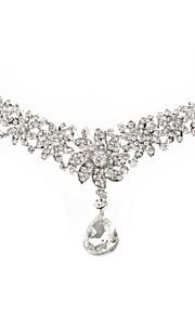 alliage superbe, avec strass conception de fleur de bijoux en diamants front pendentif
