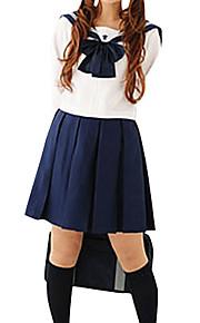 dziewczynka niebieski i biały poliester szkolny uniform (2 szt.)