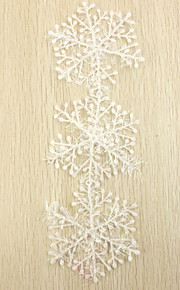 Snowflake Christmas Ornaments (Set of 3 Pieces)