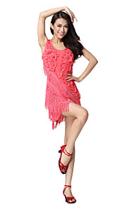 Prestanda Dancewear Tulle med blommor Latin Dance Dress For Ladies Fler färger