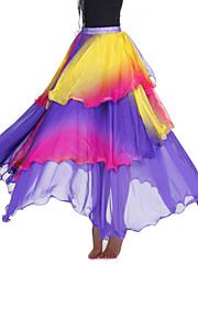 dancewear viscose met tiers prestaties buik rok voor dames meer kleuren