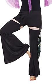 dancewear kristal katoen met beading / kwastjes prestaties buik broek voor dames