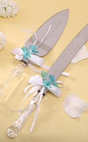 batteries de cuisine couteau de gâteau de mariage personnalisé ensemble gâteau couteau / serveur (plus de couleurs)