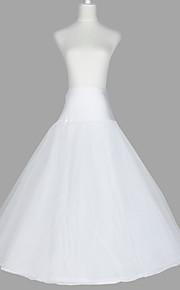 Déshabillés Robe trapèze Ras du Sol 3 Filet de tulle Taffetas Organza Blanc